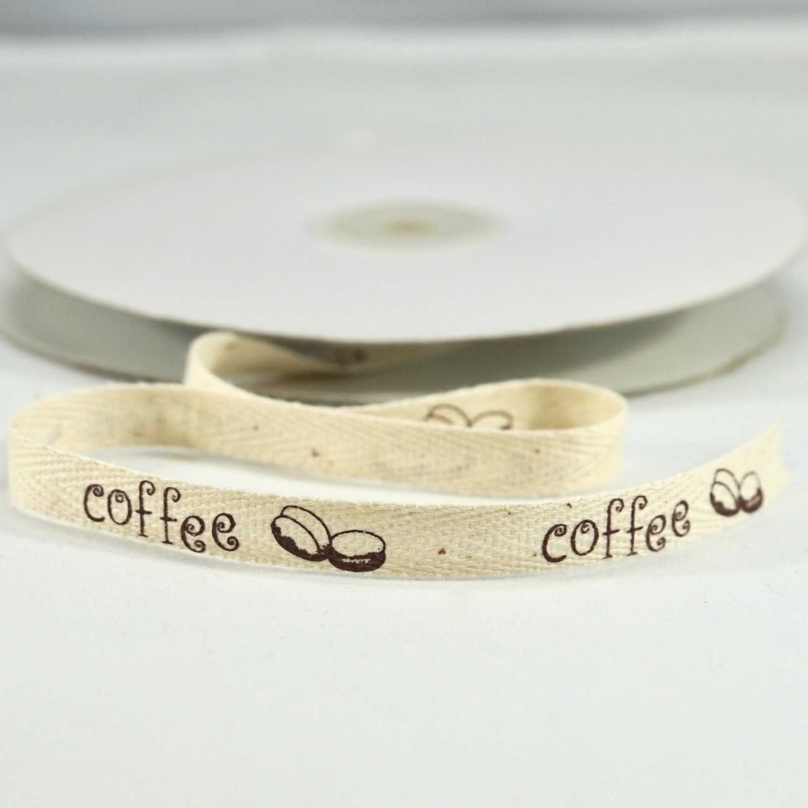 100% Cotton Ribbon - Brown Coffee