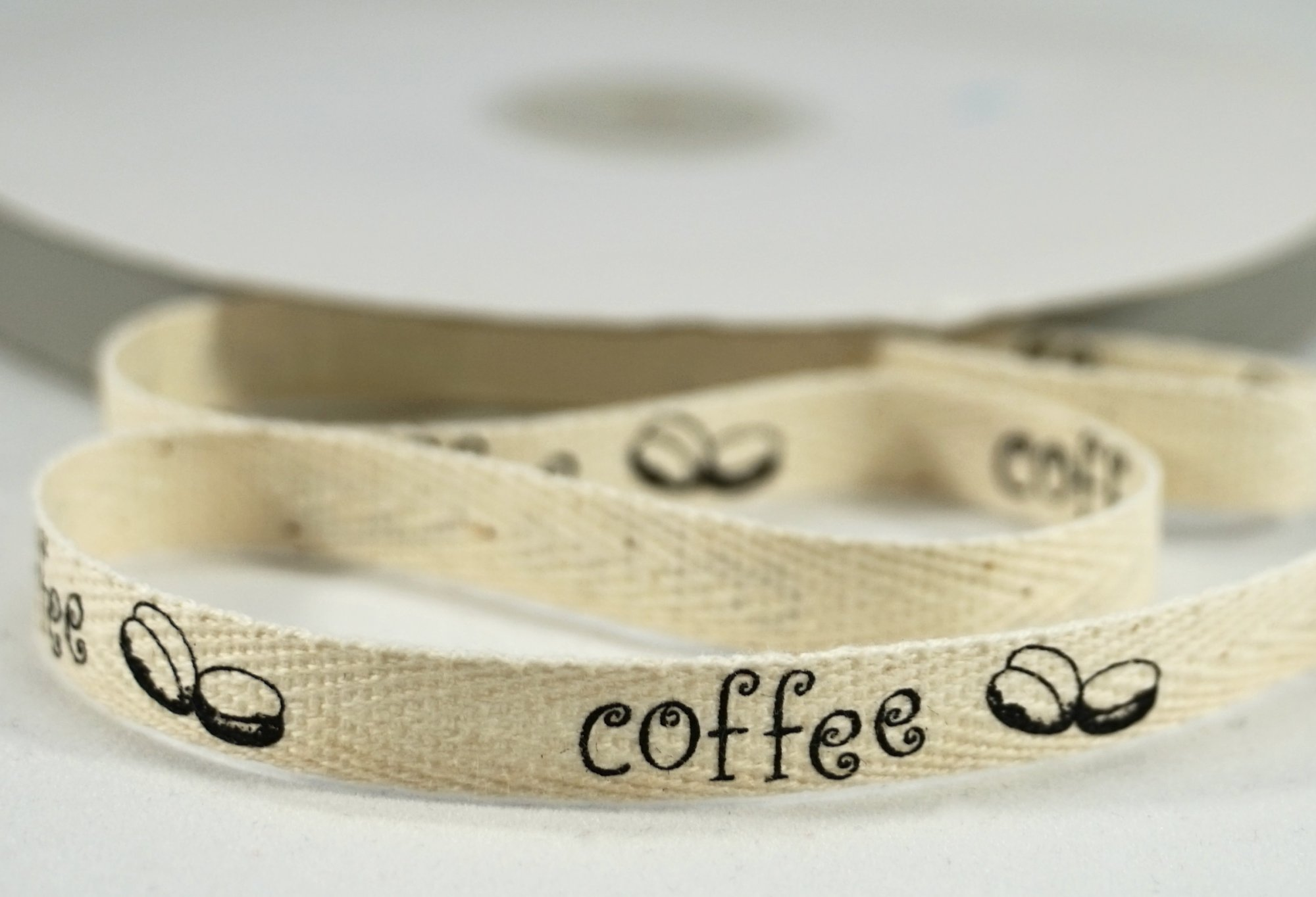 100% Cotton Ribbon - Black Coffee