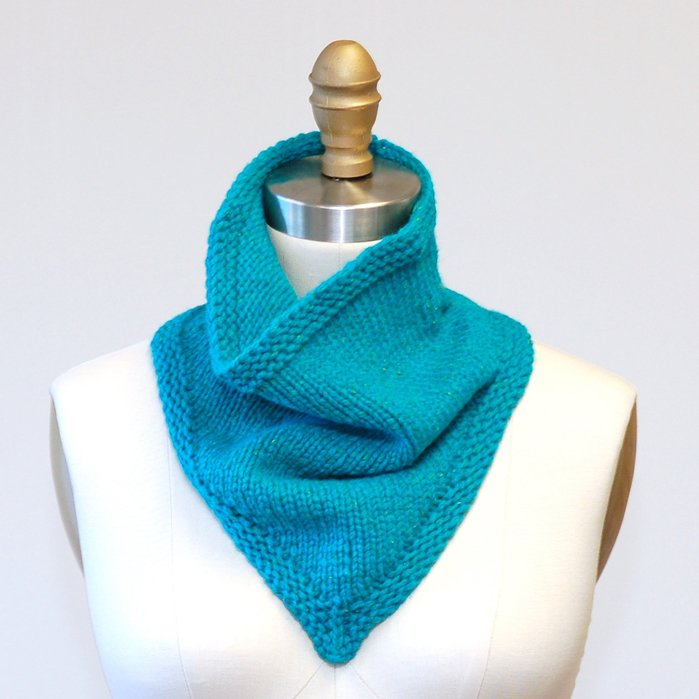 Beyond Knitting Purling Bandana Cowl