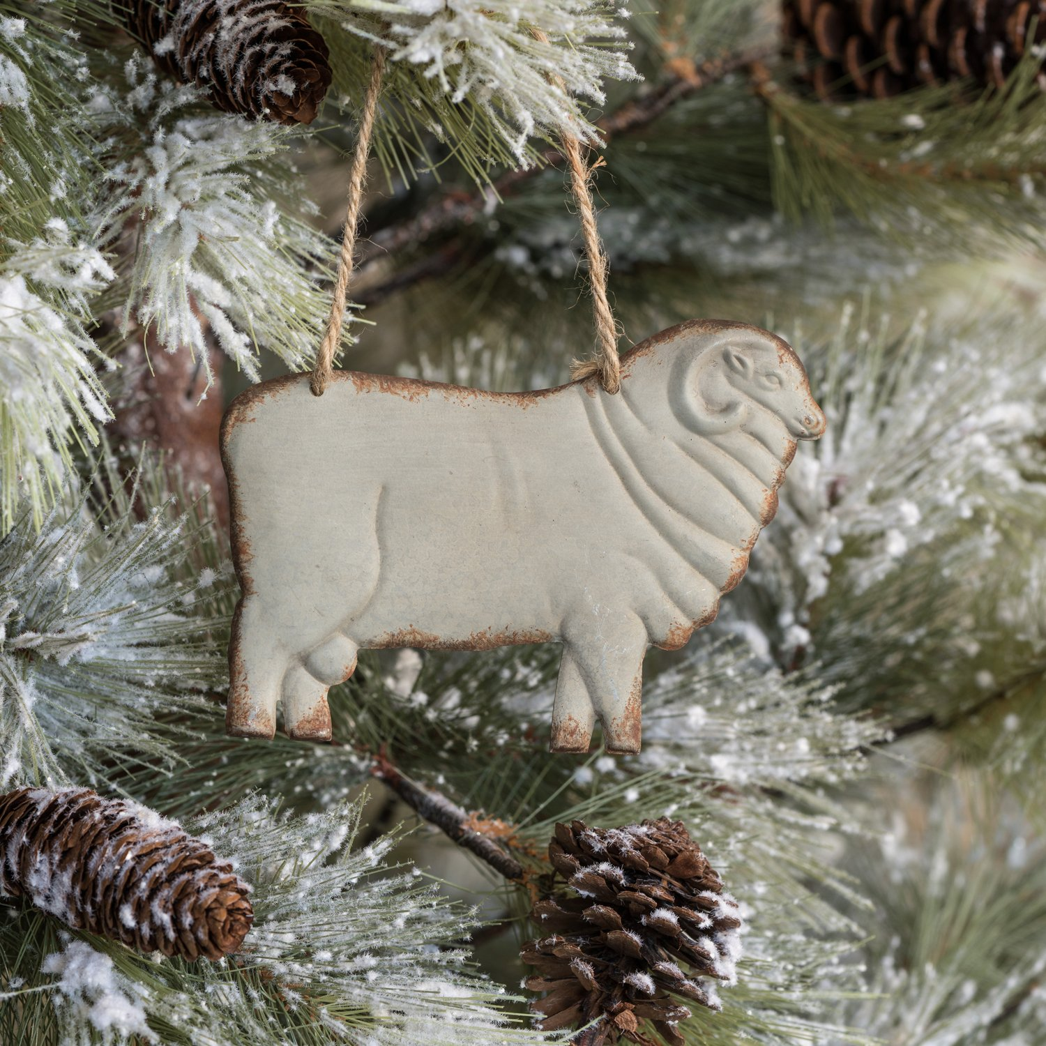 Metal Ram Ornament