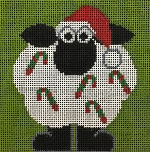Annie Lane Needlepoint Canvas 4 x 4 - Easy Sheep Decorating