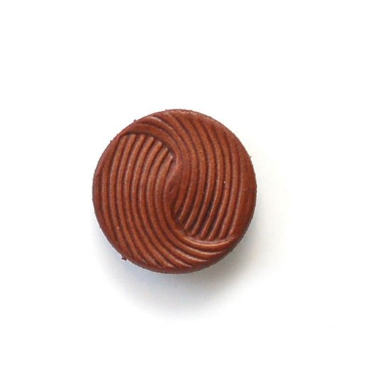 Embossed Swirl Leather Buttons