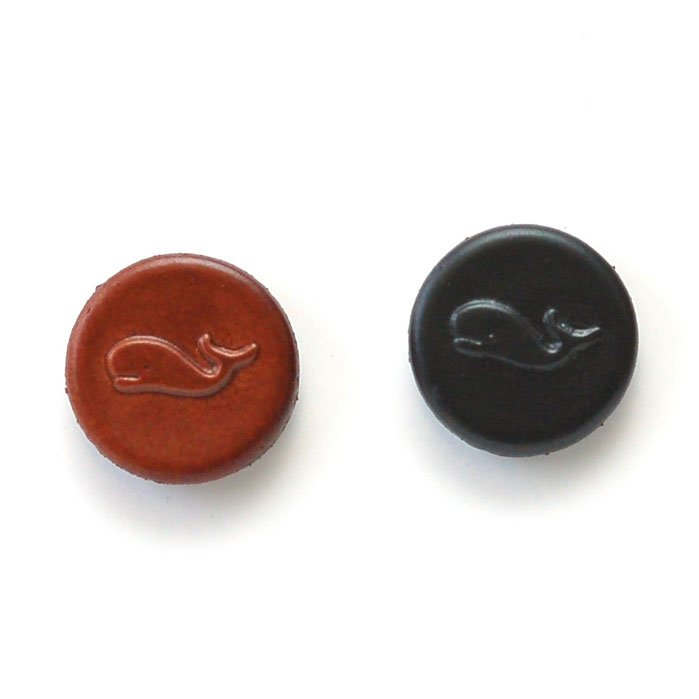 Embossed Whale Leather Buttons