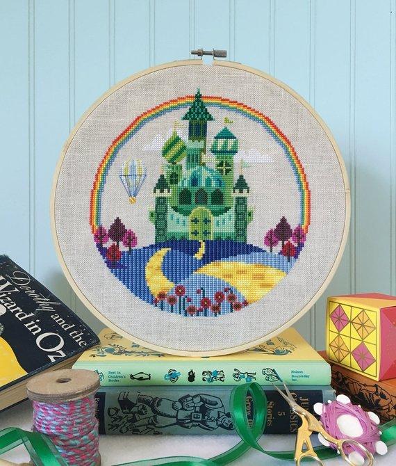 Satsuma Street Cross Stitch Pattern - The Emerald City