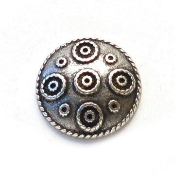 Ethnic Circles Metal Button