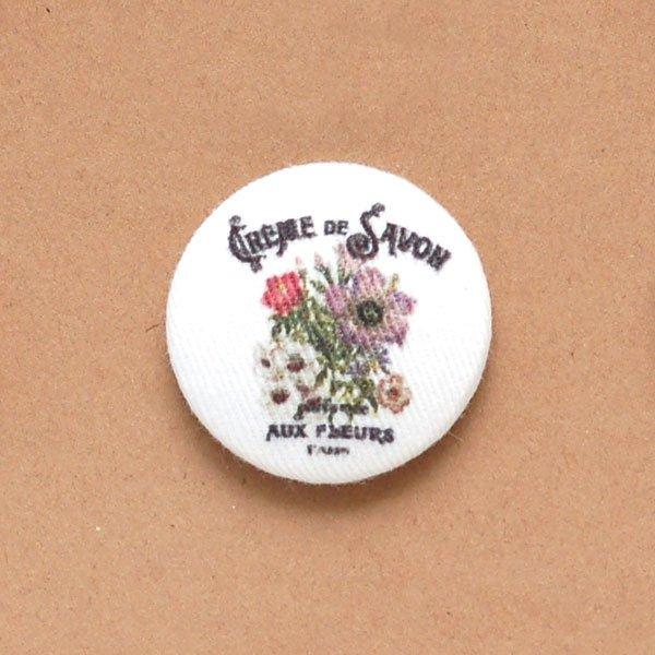 Flower Fabric Buttons
