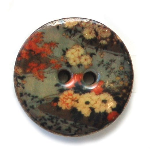 Fancy Florals Coconut & Resin Buttons