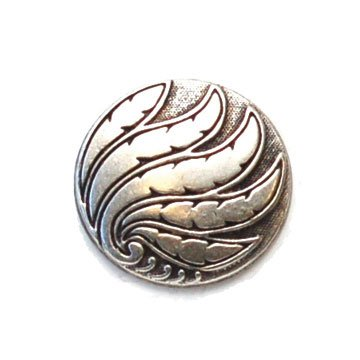 Fern Metal Button