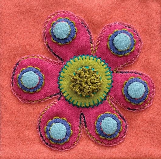 Flower Pre-Cut Block - Sue Spargo
