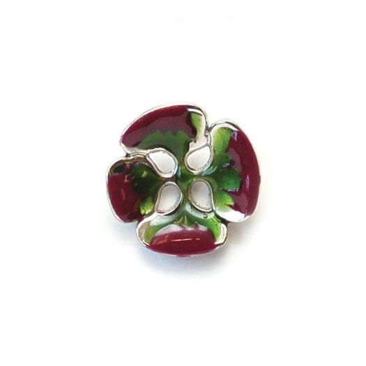 Enamel Flower Petal Burst Buttons