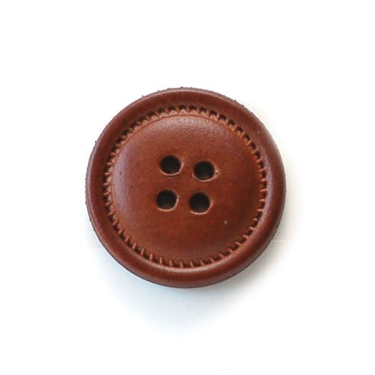 Fluted Leather Buttons