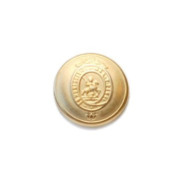 Gold French Crest Metal Button