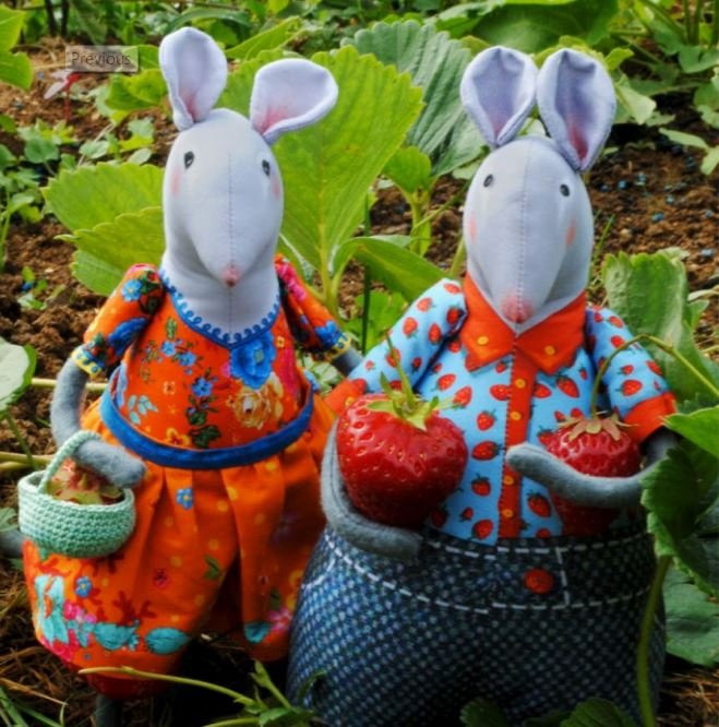 Odile Bailloeul Sewing Kit 2 Mice from the Kitchen Garden