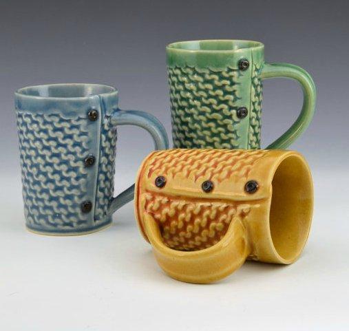 Creative with Clay Medium Tea Mug - Garter Stitch