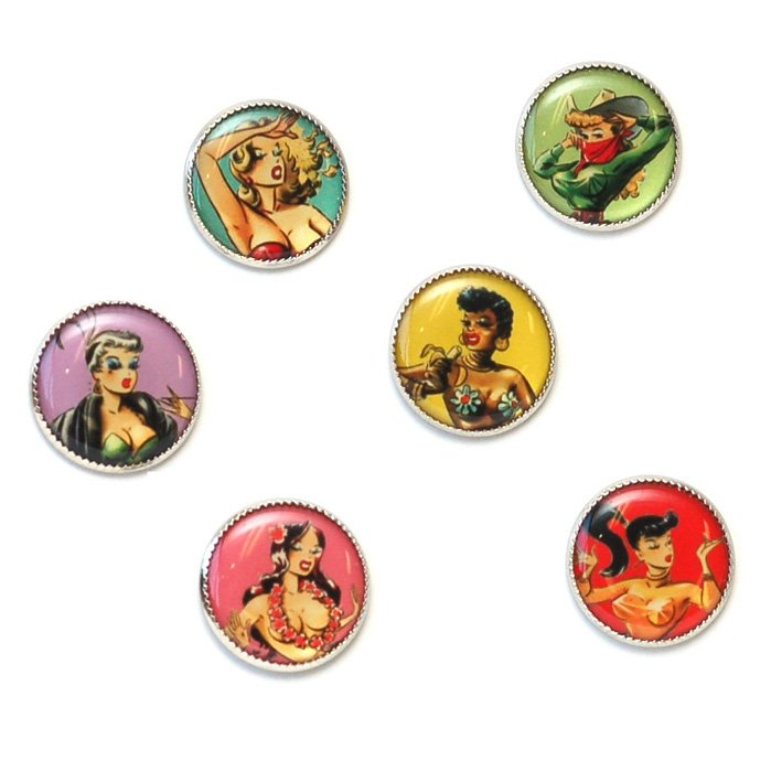 Gay Paree Picture Button Set