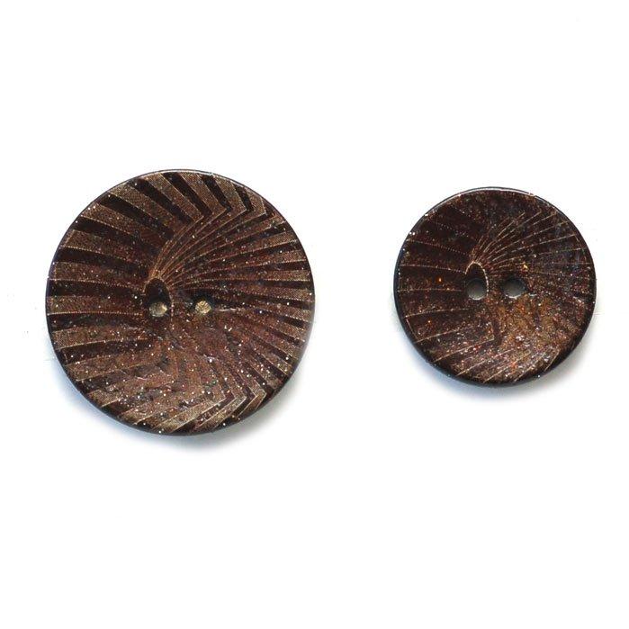 Glitter Ziggy Coconut Buttons