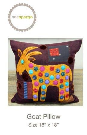 Sue Spargo Pillow Pattern - Goat