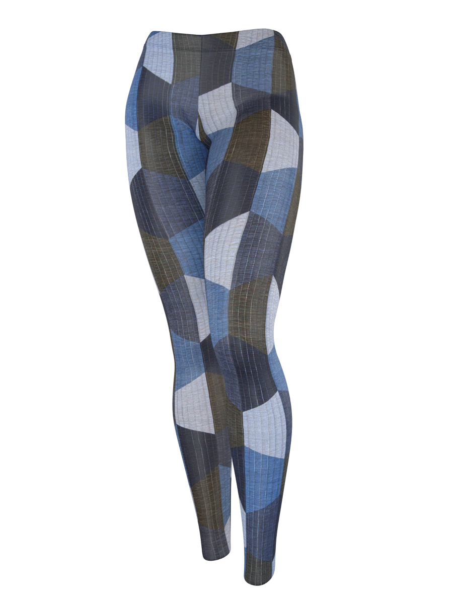 Leggings - Hexie Blues