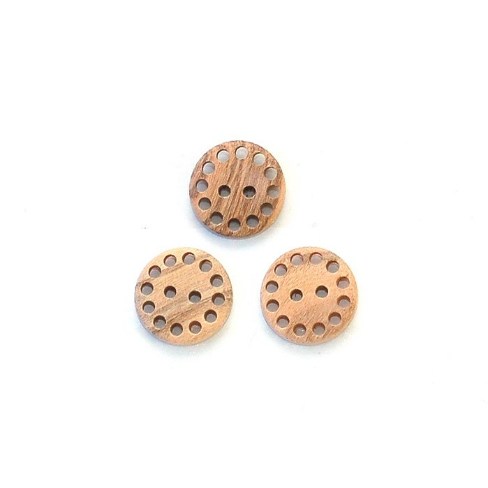 Holey Edge Wood Button