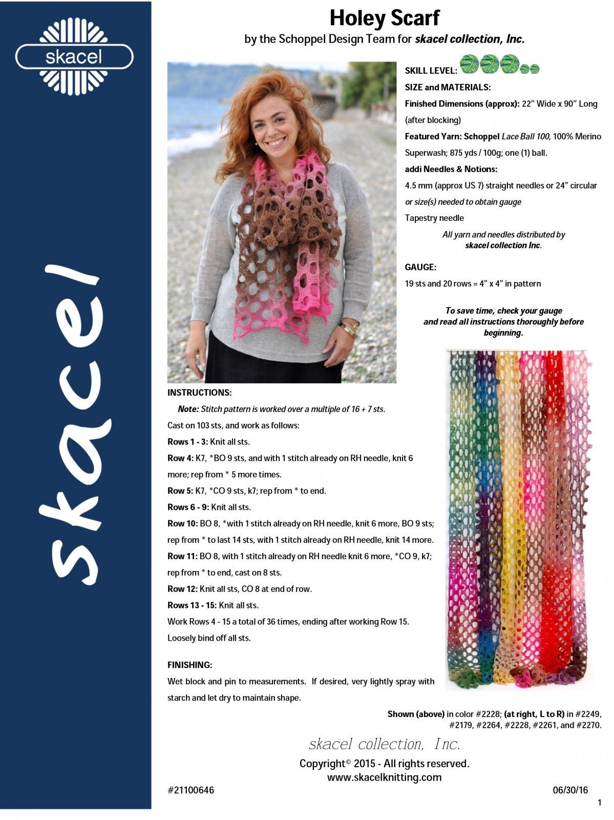 Holey Scarf knit pattern digital download