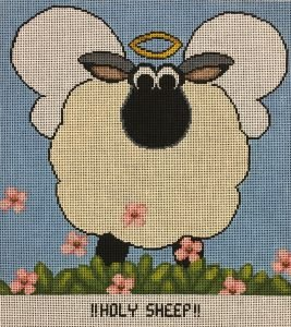 Annie Lane Needlepoint Canvas 9 x 9 - Holy Sheep