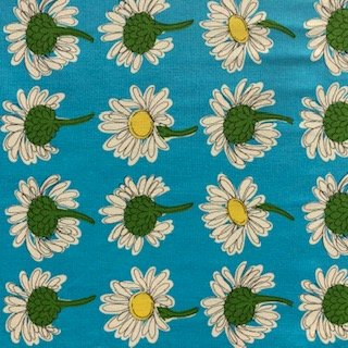 Flaunty Daisies LIghtweight Cotton Canvas - Blue
