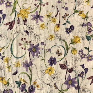 Floral Sketch Cotton Lawn - Seven Islands