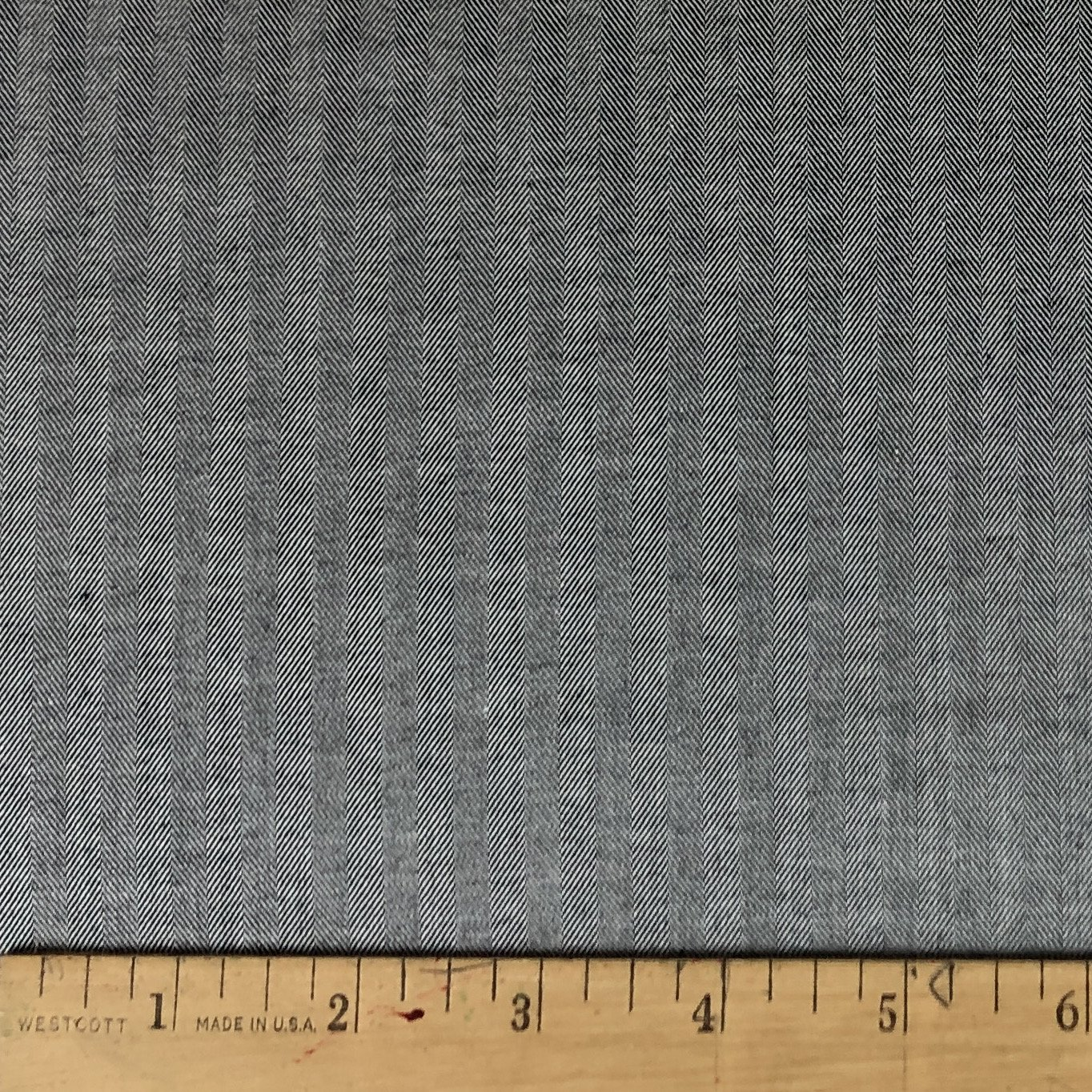 Black Herringbone Pima Cotton