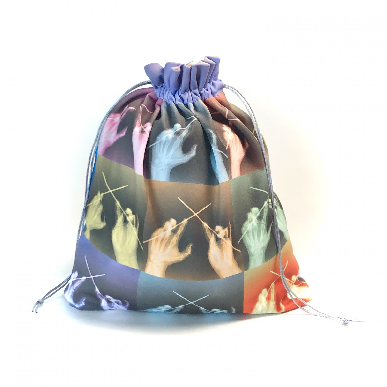X-ray Knits in Color - Makers' Exclusive Drawstring Project Bag