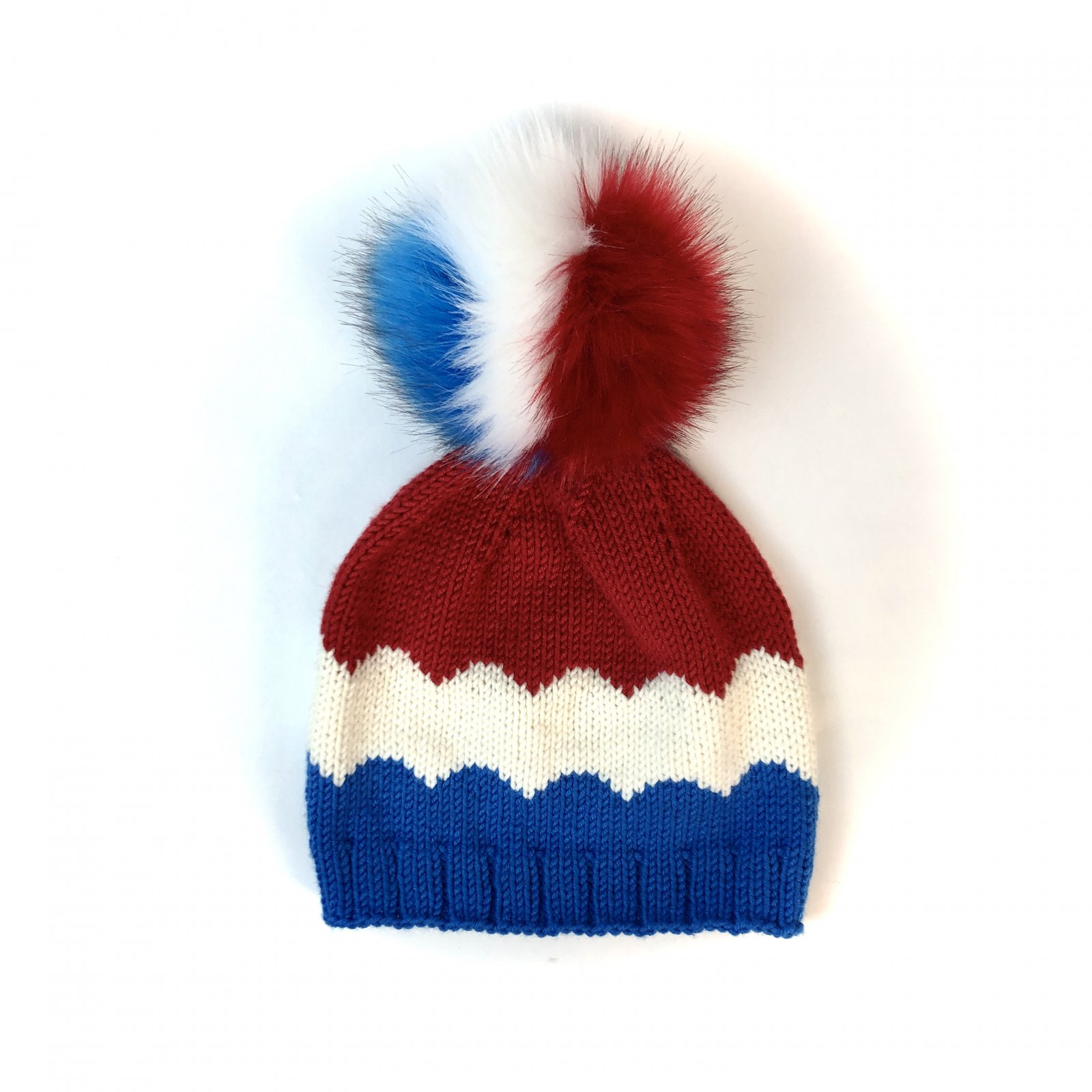 Red, White & Blue LOVaFUR PomPom