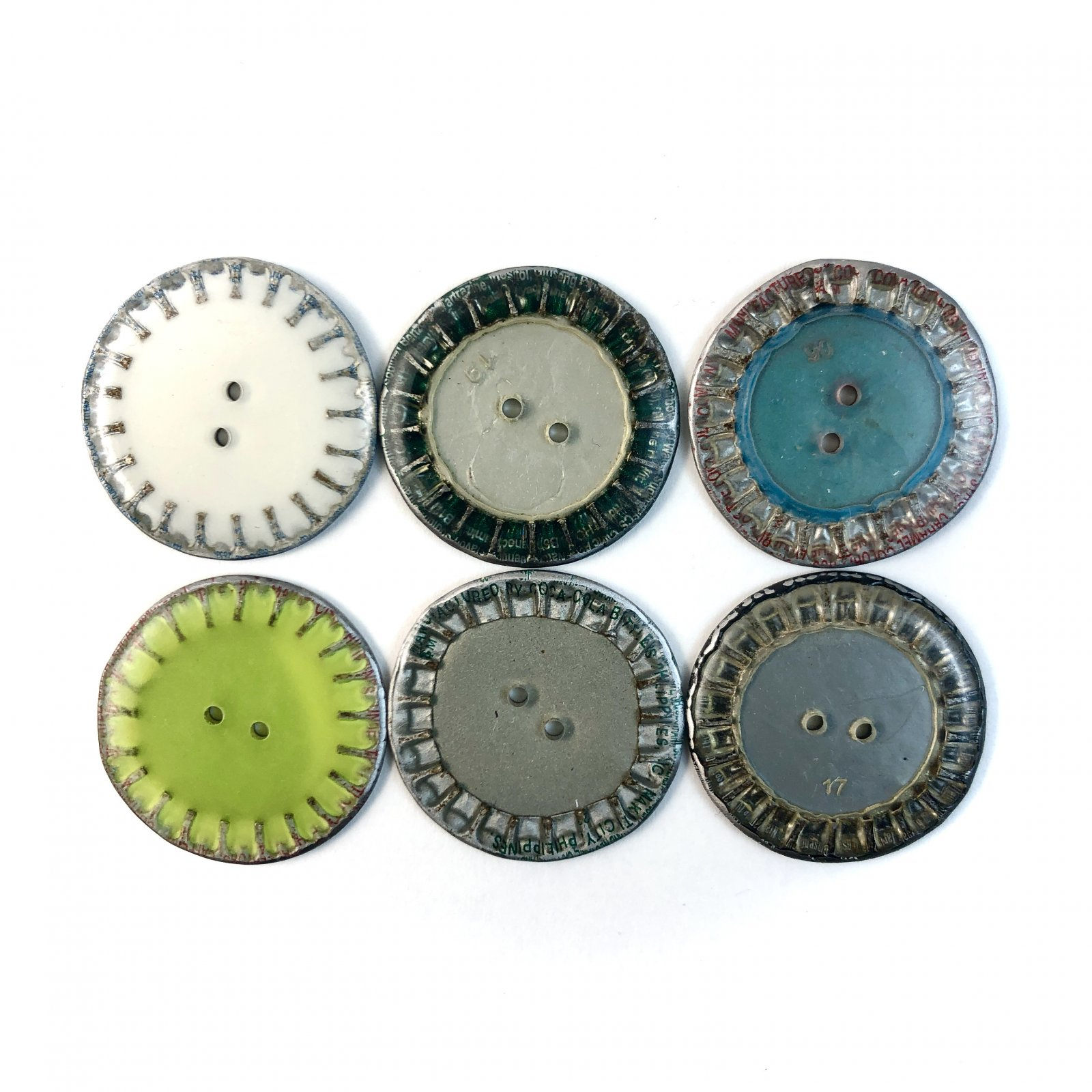 Upcycled  Bottle Cap button - Flat