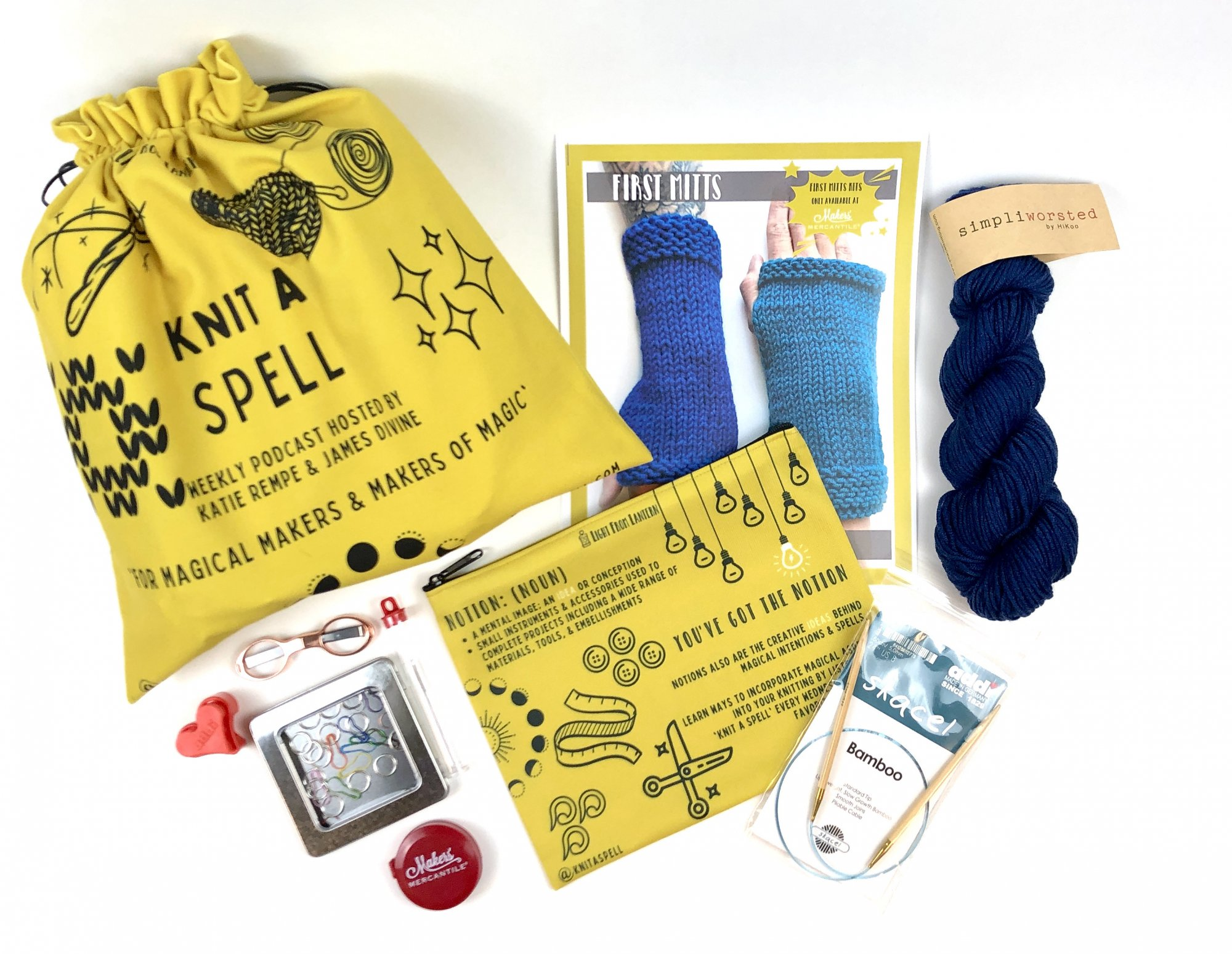 Knit A Spell First Mitts Kit