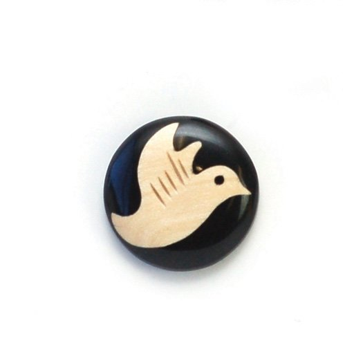 Inlay Animals Wood Button