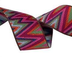 7/8 inch Flame Stitch Ribbon designed by Kaffe Fassett