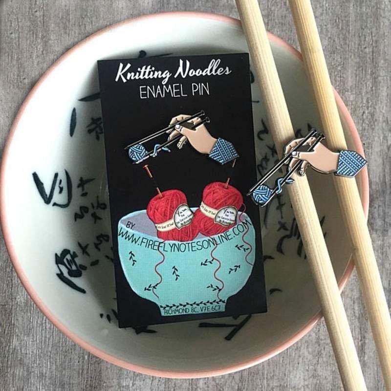 Knitting Noodles - Enamel Pin
