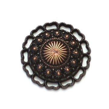 Lacey Burst Metal Button