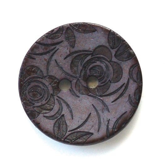Lasered Rose Coconut Buttons