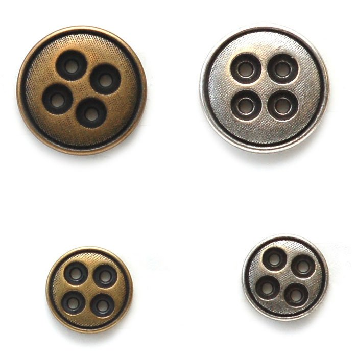 Layered Holes Metal Button