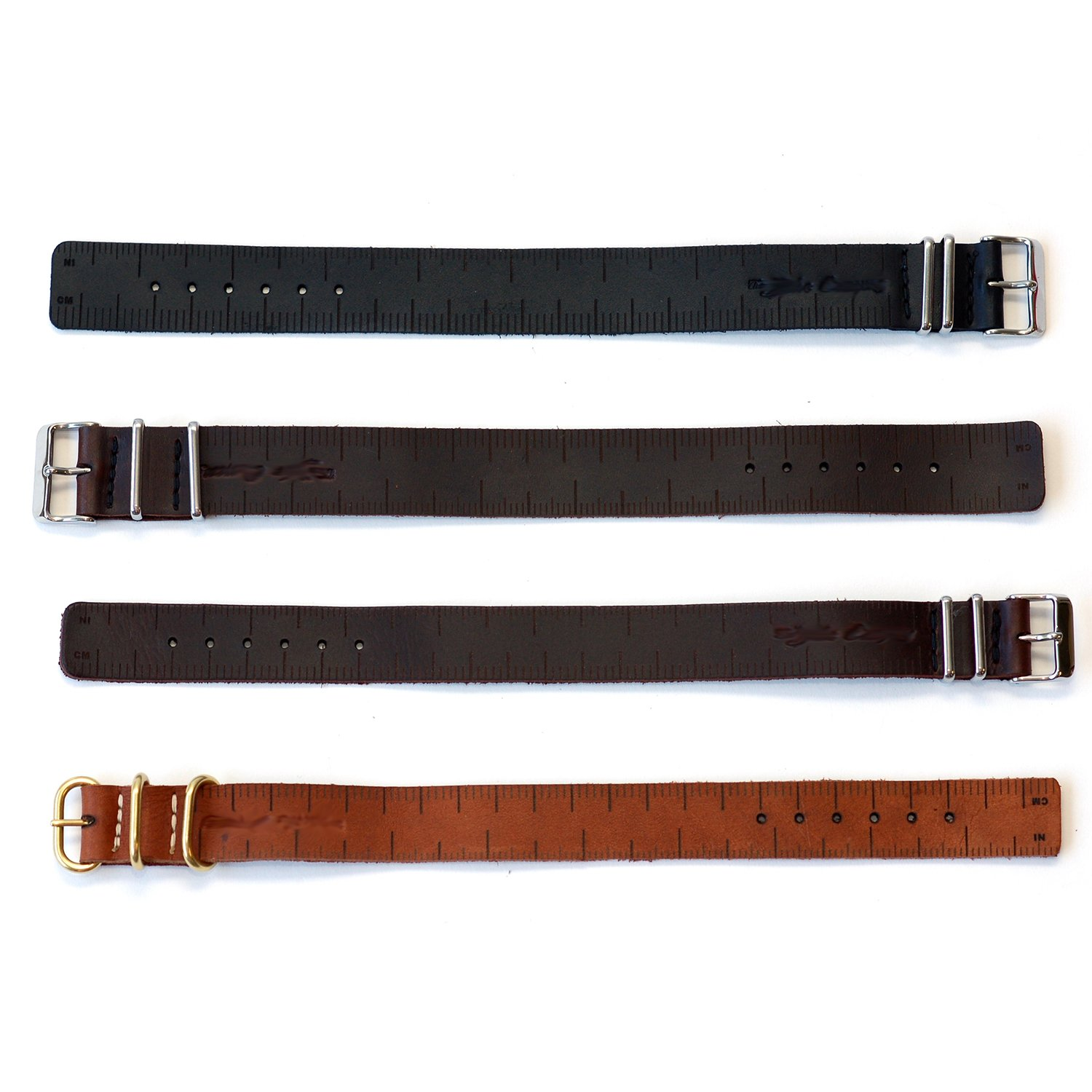 Leather Ruler Buckle Bracelet