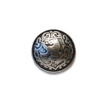Lion Crest Convex Metal Button