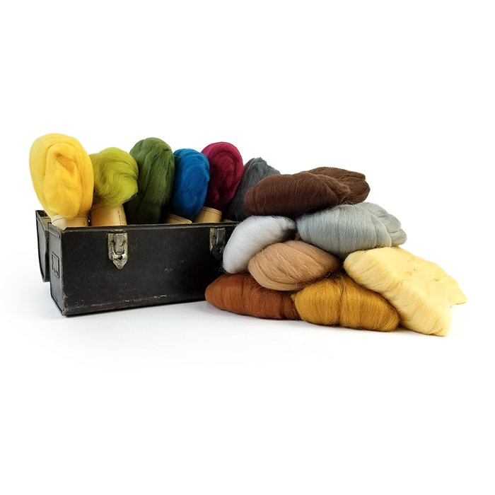 Makers Wool Roving 50 gram hanks