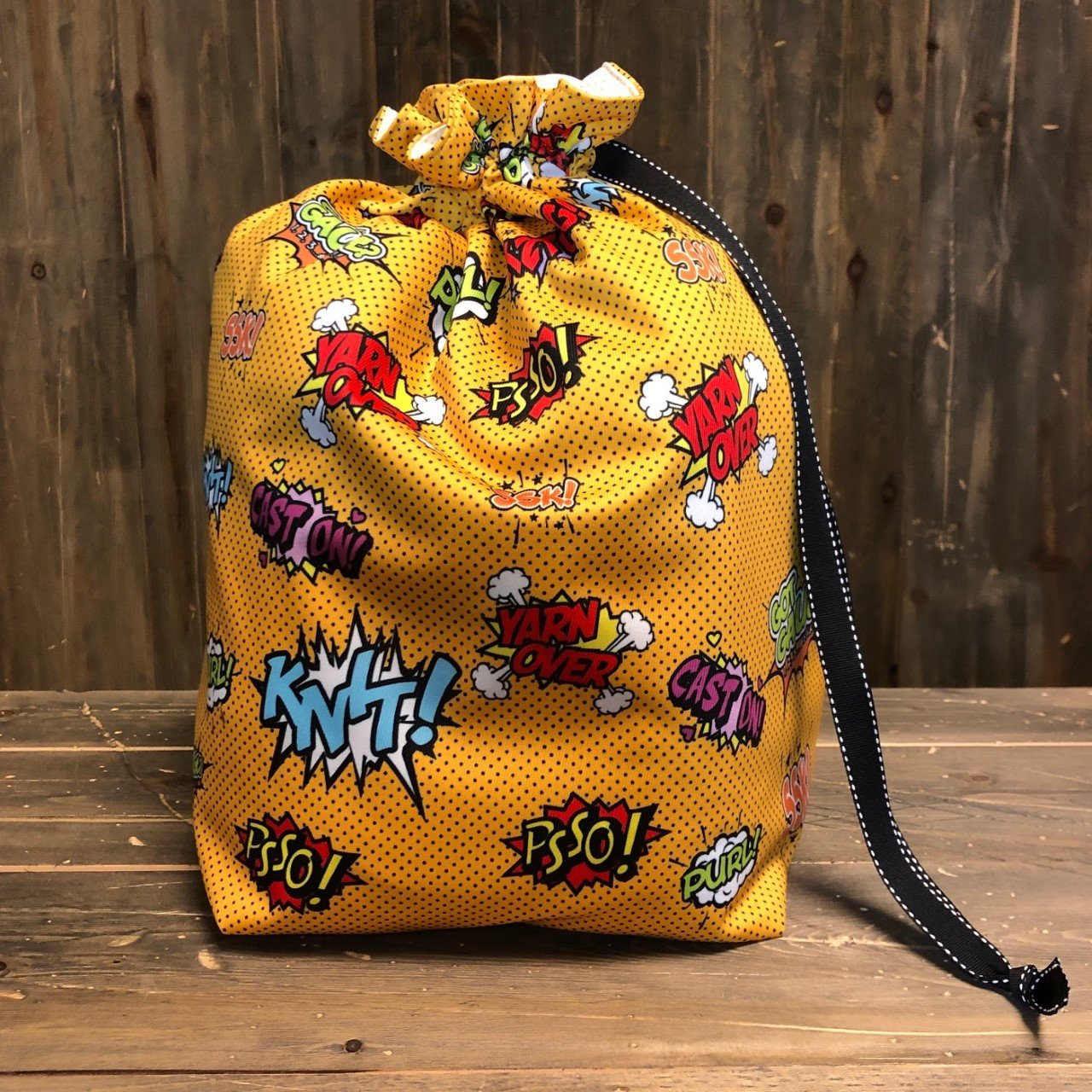 Mango Comical Knitters  - Makers' Exclusive Project Bag