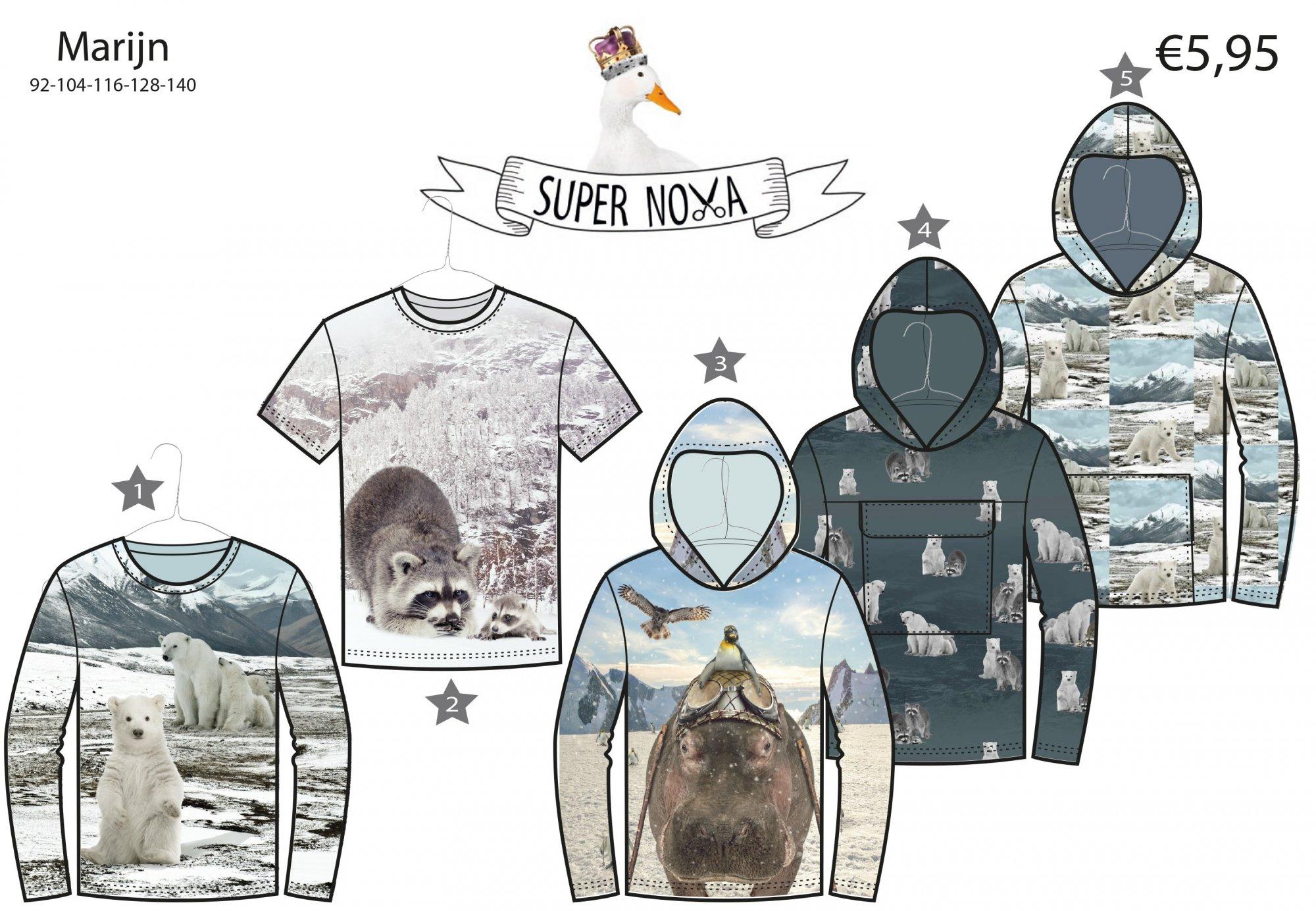 Stenzo Sewing Pattern - Marijn Child's Shirt & Hoody