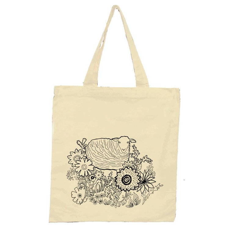 Flower Patch Sheep Tote