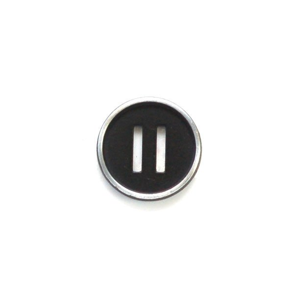 Equal Sign Metal Button