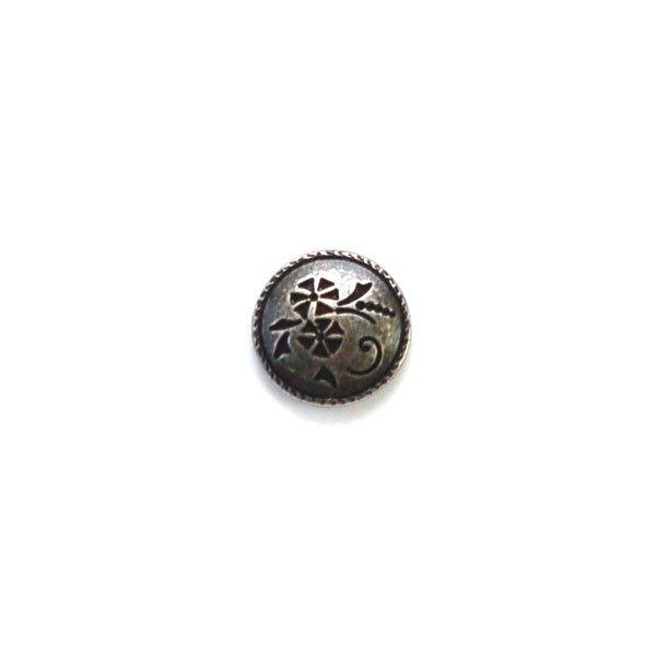 Flower Cutout Metal Button