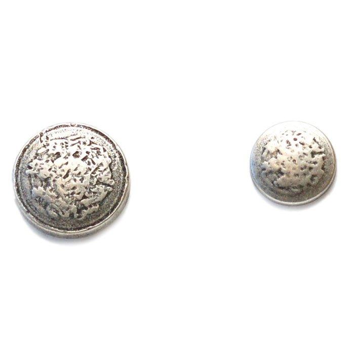 Hammered Metal Button