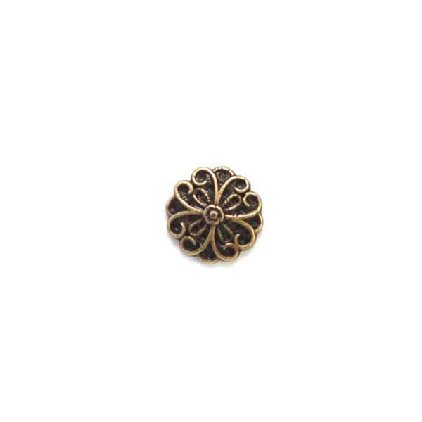 Heart Flower Petal Metal Button