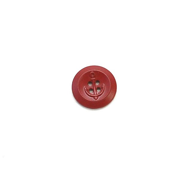 Painted Anchor Metal Button