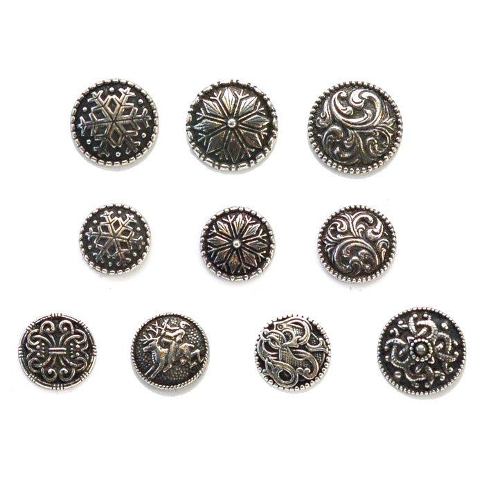 Pewter Norwegian Metal Button